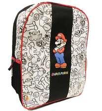 Nintendo Super Mario Backpack Yoshi Mushroom Star Luigi Toad Book Bag, New