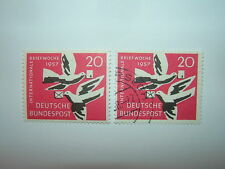 1957 WEST GERMANY 20pf INTERNATIONAL CORRESPONDENCE WEEK MH/VFU (sg1195)