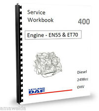 Leyland DAF 400 2.5 EN55 ET70 Peugeot 2.5 ENGINE Workshop Manual
