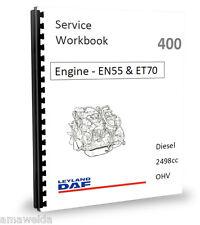 PEUGEOT 2.5D EN55 ET70 moteur diesel Factory Workshop Manual