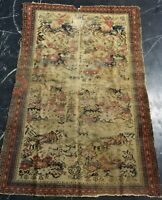"ANTIKER MALAYER 192 x 126 - ANTIQUE MALAYER 6' 3"" x 4' 1"" ca. 1900"