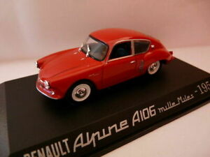 RE8E Voiture 1/43 M6 norev  RENAULT Alpine A 106 Coach rouge 1956