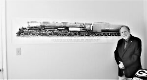 7.5 FT. BIG BOY LOCOMOTIVE BANNER!  (A 90 X 18 IN. SPECTACULAR UP ON YOUR WALL!)