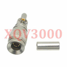 2pcs Connector DIN 1.0/2.3 male plug crimp RG174 RG316 LMR100 cable straight