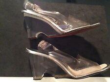 1960's Rare Vintage  LUCITE Jack Rogers Platform Shoes