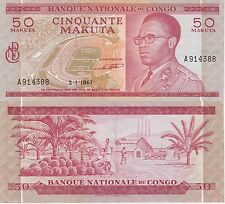 Congo 50 Makuta Banknote 2.1.1967 Extra Fine Condition Cat#12-A-4388