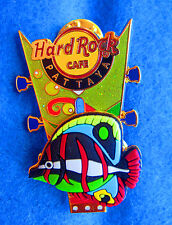 PATTAYA FLOATING RED RUBBER FISH GREEN GUITAR HEADSTOCK Hard Rock Cafe PIN LE