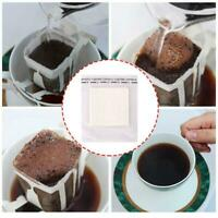 50 Pcs Portable Hanging Ear Drip Coffee Filter Paper Bag White For Travel Home