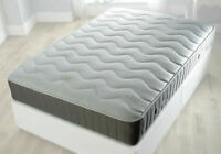 ALOE VERA COOL BLUE MEMORY FOAM MATTRESS, COIL SPRING - 3FT, 4FT, 4FT6, 5FT