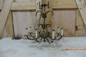 Vintage solid Brass Chandelier lighting hanging gothic victorian 24Hx18w