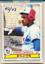 1979 Topps Originals Signature Edition Andre Dawson Certified Auto 2/3 HOF