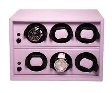 Scatola Del Tempo Watchwinder - Cornice 6RT OS Lilac Leather, MSRP $4,900