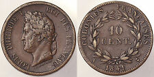 10 CENTS 1841 A LUIGI FILIPPO I FRANCIA COLONIE FRANCE COLONIES #486