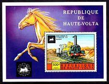 Upper Volta / Burkina Faso - 1975 Locomotives - Mi. Bl. 32 MNH
