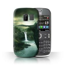 Official Elena Dudina Case for Nokia Asha 302/Fantasy Landscape/Bridge/Lake