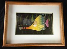 """1974 Stewart Moskowitz """"Music Fish"""" 17"""" x 13"""" Framed Lithograph Pop Art"""