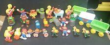 Vintage Sesame Street Figures Toys Big Bird Elmo Cookie Monster Bert Ernie Misc