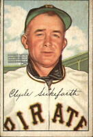 1952 Bowman Pittsburgh Pirates Baseball Card #227 Clyde Sukeforth CO RC - EX