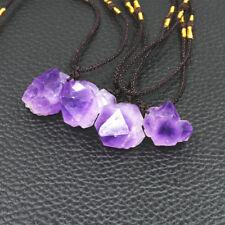 raw Amethyst Crystal Pendant Necklace Healing Gem stone quartz healing