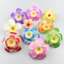 9cm Plumeria Artificial Foam Frangipani Flower Heads Beach Wedding Party Decor