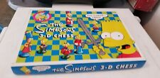 Vintage 1992 The Simpsons 3-D Chess Set 100% Complete Board Game Classic