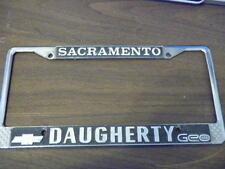 Sacramento California Chevrolet Geo Daugherty License Plate Frame holder tag