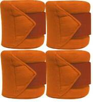 Set Of 4 ORANGE Fleece Polo/Leg Wraps ! NEW HORSE TACK!