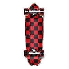Checker Red Complete Longboards Mini Cruiser Skateboard
