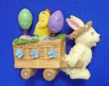 Pin Easter Vintage Bunny Rabbit Eggs Chick Wheelbarrow Holiday Brooch