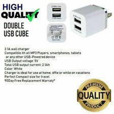 2.1A (5W 10W) Dual USB port wall Charger cube for iPhone 6,7,8,X,XR,XS,iPad MINi