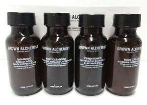 GROWN ALCHEMIST - Shampoo + Conditioner + Body Wash +Body Cream   Travel Set