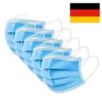 50X Stück Mundschutz 3-lagig Schutzmaske Gesichtsmaske Gummiband Filter