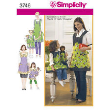 Simplicity Sewing Pattern 3746 Mom, Child & Doll Apron Patterns