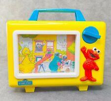 Vintage Tyco Sesame Street Elmo Musical Scrolling TV Wind Up Box Baby Preschool