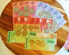 High Quality Play Money 2 x $100, $50 / 5 x $20, $10 / 4 x $5 + 5 x all coins