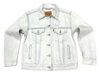 Levi's Women's Denim Jacket With Floral Embroidery In Light Wash Blue Size S