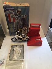Vintage 1970s EVEL KNIEVEL Stunt Cycle Set Original Box and Instructions