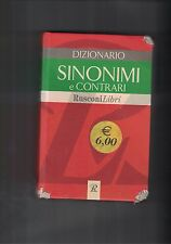 DIZIONARIO SINONIMI E CONTRARI - 2005 - RUSCONI