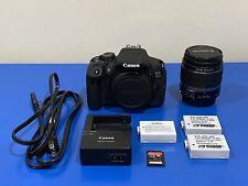 Canon Eos Rebel 700D T5i 18.0 Mp Digital Slr Camera & 18-55mm Kit Lens- Black