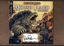 HTF Mouse Guard Fraggle Rock FCBD 2010 Signed By David Petersen Archaia