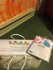 Sumersault Branches 10pc Crib Set And Matching Window Valance. NWT
