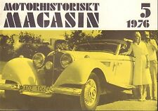Motorhistoriskt Magasin Swedish Car Magazine 5 1976 Mercedes 032717nonDBE