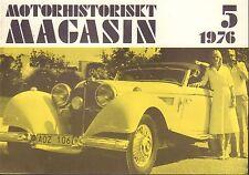 Motorhistoriskt Magasin Swedish Car Magazine 5 1976 Mercedes 032717nonDBE