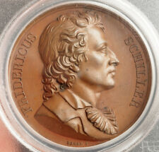 "1819, Germany. Bronze ""Friedrich Schiller"" Medal by Barré/Durand. PCGS SP-63!"