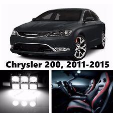 8pcs LED Xenon White Light Interior Package Kit for 2011-2015 Chrysler 200