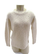 Vince Off White Nubby Cotton Wool Long sleeve Crew Neck Sweater Size XS