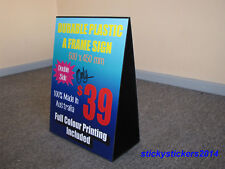 Double Sided Sandwich Board Plastic A-Frame Sign Full Colour Grap 600x450 mm