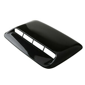 Glossy Black Air Flow Vent Cover Fit for Car front Hood Scoop Bonnet Trim W/Tape