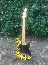 1982 Fender JV Squier Stratocaster factory EVH Black and Yellow rare!