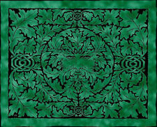 "GREEN MAN CELTIC TREE MAN EMERALD TAPESTRY 5x7.5"" WALL HANGING HIPPIE BEDSPREAD"
